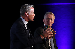 ATP Executive Chairman & President, Chris Kermode (left) and Tennis Australia CEO, Craig Tiley speak during the ATP Team Competition Announcement during day five of the Nitto ATP Finals at The O2 Arena, London. PRESS ASSOCIATION Photo. Picture date: Thursday November 15, 2018. See PA story TENNIS London. Photo credit should read: John Walton/PA Wire. RESTRICTIONS: Editorial use only, No commercial use without prior permission.