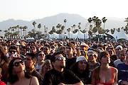 Fans listen at the front of the main stage at the 2010 Coachella Music Festival in Indio, CA on Friday, April 16, 2010.