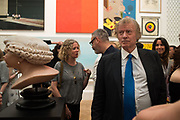JENNY DYSON; RICHARD BRIGGS, Royal Academy Summer Exhibition party. Burlington House. Piccadilly. London. 6 June 2018