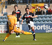 Dundee's Mark Kerr - Dundee v Motherwell, Clydesdale Bank Scottish Premier League at Dens Park.. - © David Young - 5 Foundry Place - Monifieth - DD5 4BB - Telephone 07765 252616 - email: davidyoungphoto@gmail.com - web: www.davidyoungphoto.co.uk