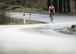 Professional Slovenian rider Borut Bozic of Vacansoleil cycling club at practice, on April 6, 2009, in Logatec, Slovenia.  (Photo by Vid Ponikvar / Sportida)