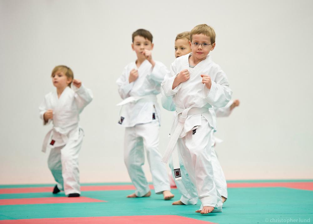 Gráðun í Karate hjá Karatedeild Fylkis, byrjendur.