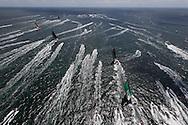 FRANCE, Lorient. 1st July 2012. Volvo Ocean Race, Start Leg 9 Lorient-Galway. Race boats and spectator fleet.