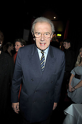 "SIR DAVID FROST at a party to promote the ""American Songbook in London"" aseries of intimate concerts featuring 1959 Broadway songs, held at Pizza on The Park, Hyde Park Corner, London on 18th March 2009."