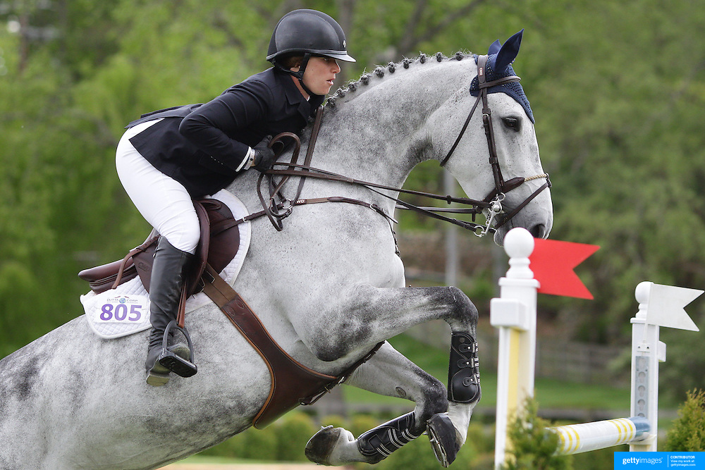 NORTH SALEM, NEW YORK - May 15: Sydney Schulman, USA< riding Toscane De L'Isle, in action during The $50,000 Old Salem Farm Grand Prix presented by The Kincade Group at the Old Salem Farm Spring Horse Show on May 15, 2016 in North Salem. (Photo by Tim Clayton/Corbis via Getty Images)