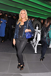 HEIDI RANGE from pop group the Sugababes at the launch of famed American fitness club 'Equinox' 99 High Street Kensington, London on 23rd October 2012.