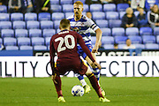 Reading FC defender (5) Paul McShane takes on Ipswich Town striker Freddie Sears (20) during the EFL Sky Bet Championship match between Reading and Ipswich Town at the Madejski Stadium, Reading, England on 9 September 2016. Photo by Mark Davies.
