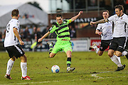 Forest Green Rovers Liam Noble(15) shoots at goal misses the target during the Vanarama National League match between Bromley FC and Forest Green Rovers at Hayes Lane, Bromley, United Kingdom on 7 January 2017. Photo by Shane Healey.