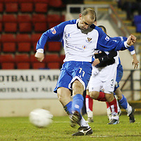 St Johnstone v Raith Rovers..Scottish Cup....05.01.08 <br /> Paul Sheerin makes it 3-0 from the penalty spot<br /> Picture by Graeme Hart.<br /> Copyright Perthshire Picture Agency<br /> Tel: 01738 623350  Mobile: 07990 594431