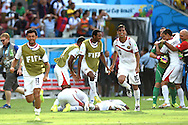 Bryan Ruiz (right) of Costa Rica during the 2014 FIFA World Cup match at Itaipava Arena Pernambuco, Recife metropolitan area<br /> Picture by Stefano Gnech/Focus Images Ltd +39 333 1641678<br /> 20/06/2014