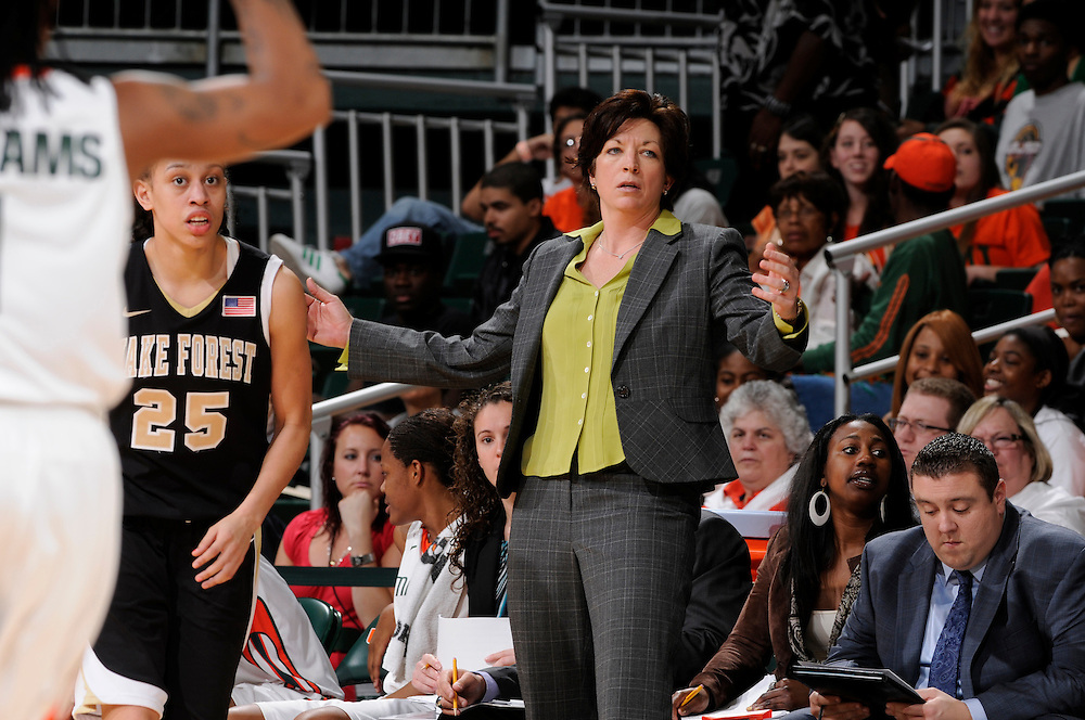 2012 Miami Hurricanes Women's Basketball vs Wake Forest