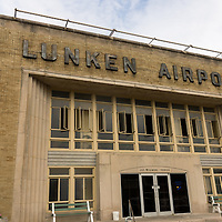 Picture of Lunken Airport in Cincinnati Ohio. Also known as Lunken Field and Cincinnati Municipal Airport, it served as Cincinnati's airport unti 1947 and today is used for private and corporate travel. Photo is high resolution and was taken in 2012.