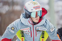 "29.01.2019, Planai, Schladming, AUT, FIS Weltcup Ski Alpin, Slalom, Herren, Streckenbesichtigung, im Bild Loic Meillard (SUI) // Loic Meillard of Switzerland during course inspection for the men's Slalom ""the Nightrace"" of FIS ski alpine world cup at the Planai in Schladming, Austria on 2019/01/29. EXPA Pictures © 2019, PhotoCredit: EXPA/ Dominik Angerer"
