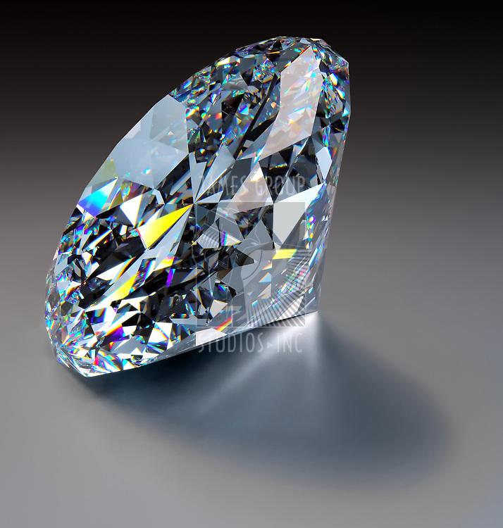 A close up of a diamond over a dark background