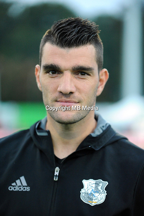 Charly CHARRIER of Amiens  during the Ligue 2 match between Bourg en Bresse and Amiens SC at Stade Marcel-Verchere on October 14, 2016 in Bourg-en-Bresse, France. (Photo by Jean Paul Thomas/Icon Sport)