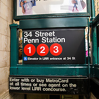 A subway station entrance is seen off the street in New York City on Thursday, October 24, 2014. (AP Photo/Alex Menendez)