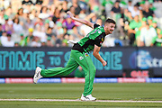 14th January 2019, Melbourne Cricket Ground, Melbourne, Australia; Australian Big Bash Cricket, Melbourne Stars versus Hobart Hurricanes;  Jackson Bird of the Melbourne Stars bowls the ball