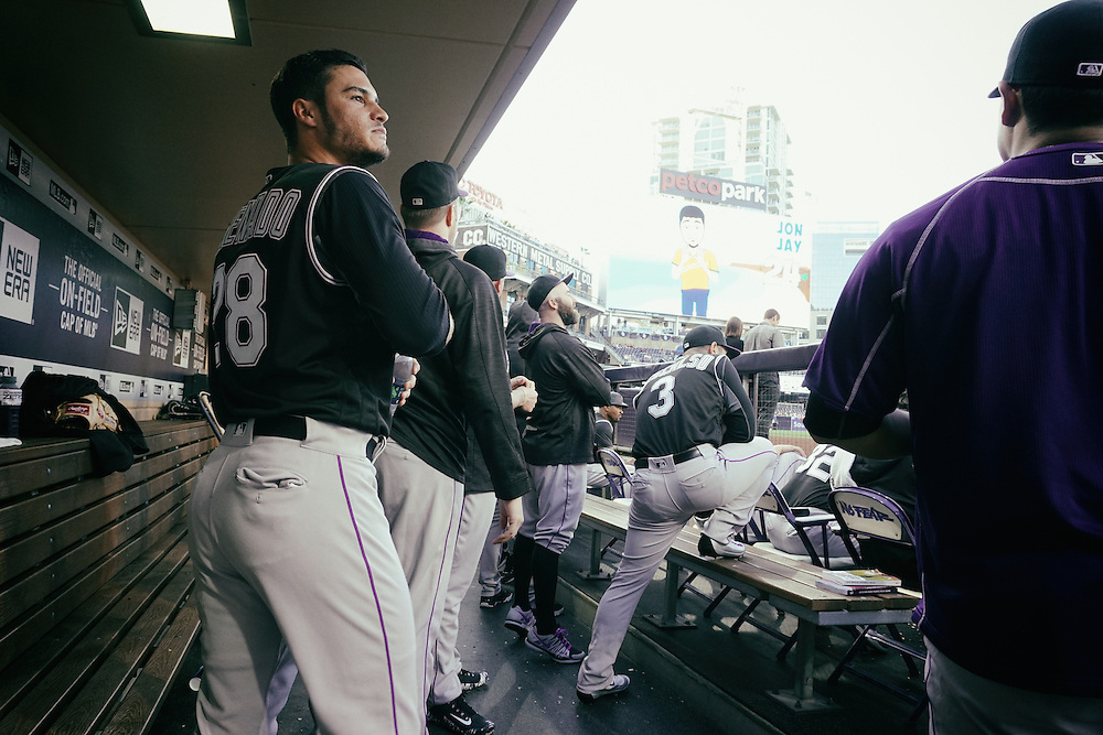 San Diego, CA - JUNE 04:   Nolan Arenado prepares to take the field during the First inning against the Padres at Petco Park during game with the San Diego Padres San Diego, California.  (Sandy Huffaker for ESPN)