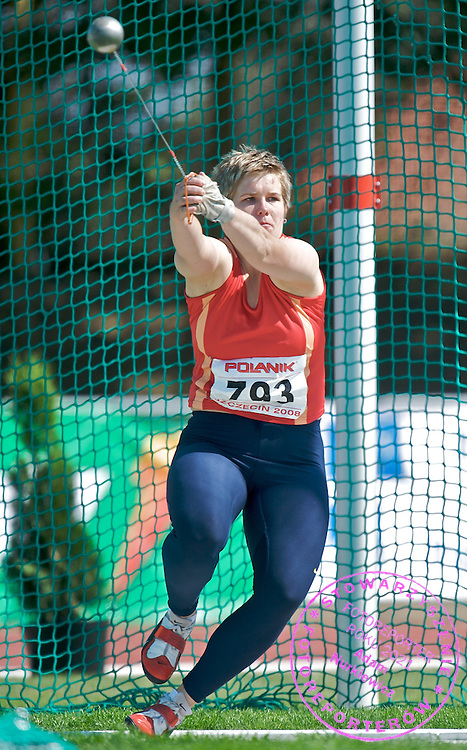 ANITA WLODARCZYK (POLAND) HAMMER THROW DURING 84 ANNUAL ATHLETICS POLISH CHAMPIONSHIP IN SZCZECIN, POLAND..SZCZECIN , POLAND , JULY 5, 2008.( PHOTO BY ADAM NURKIEWICZ / MEDIASPORT )..PICTURE ALSO AVAIBLE IN RAW OR TIFF FORMAT ON SPECIAL REQUEST.