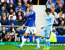 Everton's John Stones shouts to his team mates - Mandatory byline: Matt McNulty/JMP - 07966386802 - 23/08/2015 - FOOTBALL - Goodison Park -Everton,England - Everton v Manchester City - Barclays Premier League