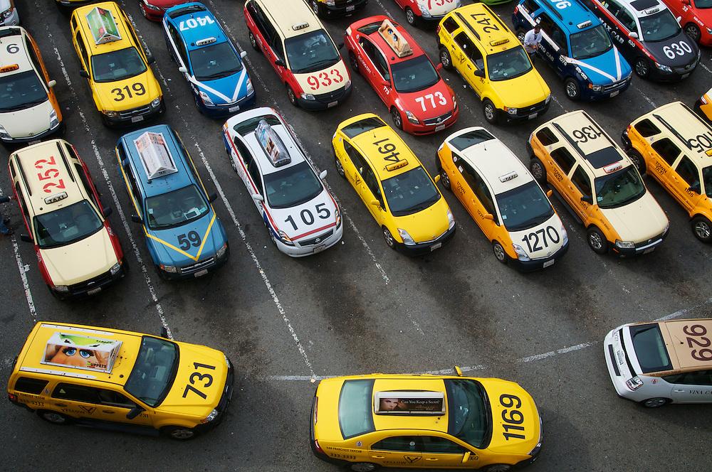 The Taxi Holding Area at San Francisco International Airport (SFO) | November 28, 2011