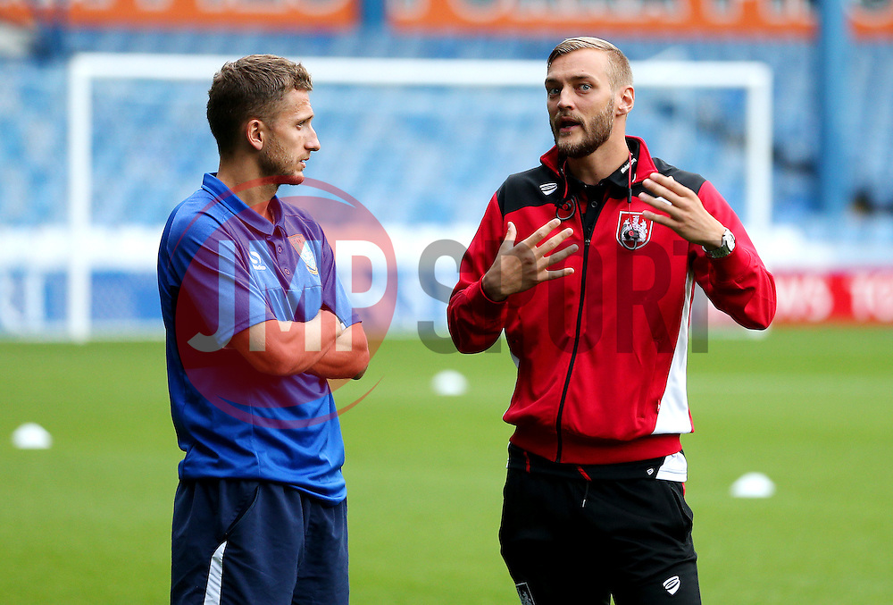 Joel Ekstrand of Bristol City talks with the opposition before kick off - Mandatory by-line: Matt McNulty/JMP - 13/09/2016 - FOOTBALL - Hillsborough - Sheffield, England - Sheffield Wednesday v Bristol City - Sky Bet Championship