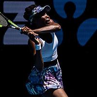 Venus Williams of the United States on day seven of the 2017 Australian Open at Melbourne Park on January 22, 2017 in Melbourne, Australia.<br /> (Ben Solomon/Tennis Australia)