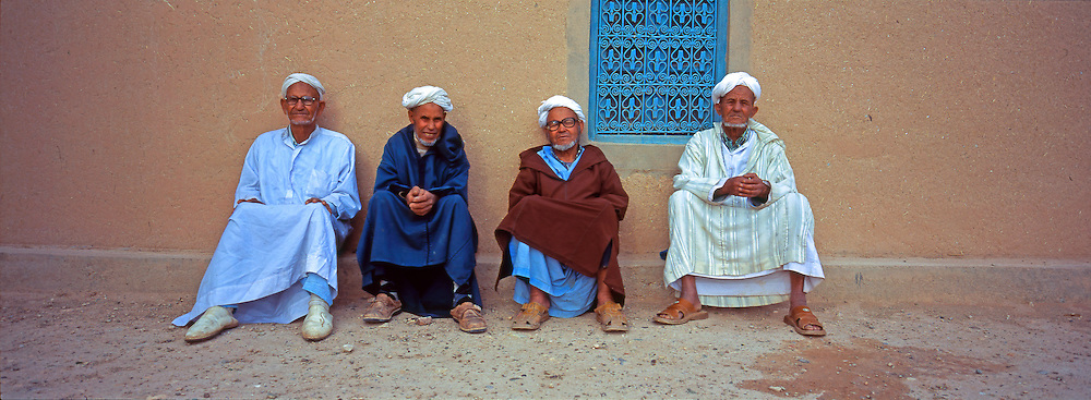 Berber mans with traditional turban, Atlas Mountains, Morocco Image by Andres Morya