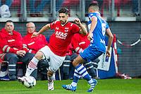 ALKMAAR - 16-04-2016, AZ - PEC Zwolle, AFAS Stadion, 5-1, AZ speler Alireza Jahanbakhsh,  PEC Zwolle speler Quasim Bouy
