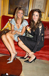 Left to right, VIOLET VON WESTENHOLTZ and MARINA HANBURY at a private dinner and presentation of Issa's Autumn-Winter 2005-2006 collection held at Annabel's, 44 Berkeley Square, London on 15th March 2005.<br /><br />NON EXCLUSIVE - WORLD RIGHTS