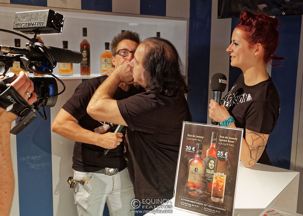 Berlin, Germany - 18 October 2012<br /> Porn star Ron Jeremy promoting his 'Ron Jeremy' brand of rum at the Venus Berlin 2012 adult industry exhibition in Berlin, Germany. Ron Jeremy, born Ronald Jeremy Hyatt, has been an American pornographic actor since 1979. He faces sexual assault allegations which he strenuously denies. There is no suggestion that any of the people in these pictures have made any such allegations.<br /> www.newspics.com/#!/contact<br /> (photo by: EQUINOXFEATURES.COM)<br /> Picture Data:<br /> Photographer: Equinox Features<br /> Copyright: &copy;2012 Equinox Licensing Ltd. +448700 780000<br /> Contact: Equinox Features<br /> Date Taken: 20121018<br /> Time Taken: 12373347