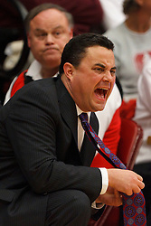 Feb 4, 2012; Stanford CA, USA;  Arizona Wildcats head coach Sean Miller on the sidelines against the Stanford Cardinal during the first half at Maples Pavilion.  Mandatory Credit: Jason O. Watson-US PRESSWIRE
