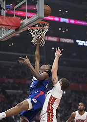 December 8, 2018 - Los Angeles, California, U.S - Shai Gilgeous-Alexander #2 of the Los Angeles Clippers puts up a layup during their NBA game with the Miami Heat on Saturday December 8, 2018 at the Staples Center in Los Angeles, California. At half, Clippers 62 vs Heat 65. (Credit Image: © Prensa Internacional via ZUMA Wire)
