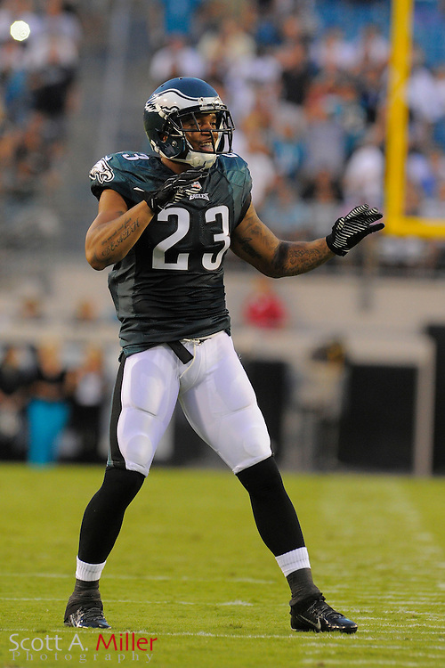 Philadelphia Eagles free safety Patrick Chung (23) during a preseason NFL game against the Jacksonville Jaguars at EverBank Field on Aug. 24, 2013 in Jacksonville, Florida. The Eagles won 31-24.<br /> <br /> &copy;2013 Scott A. Miller