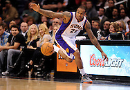 Dec. 17, 2012; Phoenix, AZ, USA; Phoenix Suns guard Shannon Brown (26) attempts to save the ball during the game against the Sacramento Kings in the first half at US Airways Center. The Suns defeated the Kings 101-90.  Mandatory Credit: Jennifer Stewart-USA TODAY Sports