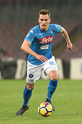 March 3, 2018 - Naples, Naples, Italy - Arkadiusz Milik of SSC Napoli during the Serie A TIM match between SSC Napoli and AS Roma at Stadio San Paolo Naples Italy on 3 March 2018. (Credit Image: © Franco Romano/NurPhoto via ZUMA Press)