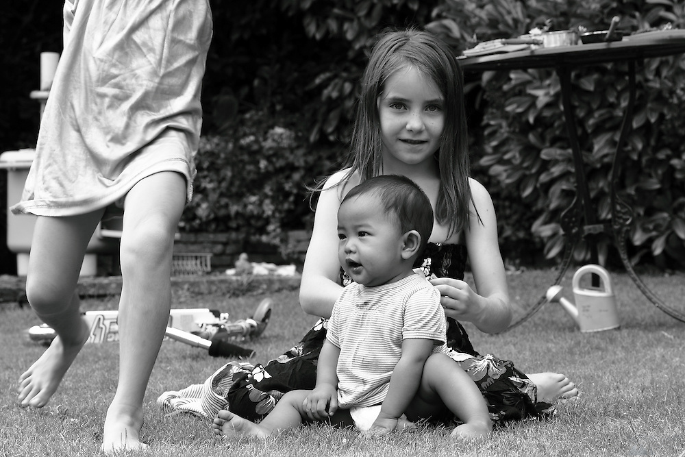 Pictures of my nieces in black & white