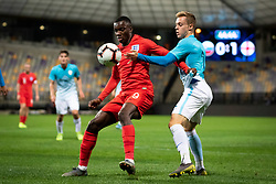 Edward Nketiah of England and Žan Rogelj of Slovenia during friendly Football match between U21 national teams of Slovenia and England, on October 11, 2019 in Ljudski Vrt, Maribor, Slovenia. Photo by Blaž Weindorfer / Sportida