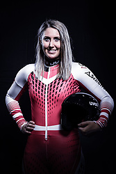 12.10.2019, Olympiahalle, Innsbruck, AUT, FIS Weltcup Ski Alpin, im Bild Cornelia Hütter // during Outfitting of the Ski Austria Winter Collection and the official Austrian Ski Federation 2019/ 2020 Portrait Session at the Olympiahalle in Innsbruck, Austria on 2019/10/12. EXPA Pictures © 2020, PhotoCredit: EXPA/ JFK