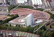 aerial photograph of  the National Space Centre Leicestershire  England UK