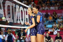ANNA DANESI E VALENTINA DIOUF<br /> ITALIA - OLANDA<br /> VOLLEYBALL WORLD GRAND PRIX 2016<br /> BARI 18-06-2016<br /> FOTO GALBIATI - RUBIN