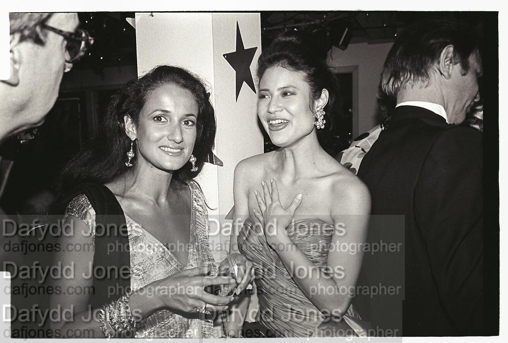 Isobel Goldsmith at Swifty Lazar's Oscar Night party. Spago. Los Angeles. March 1990.