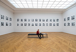 "Photographs by Gerhard Richter ""48 Portraits"" at Albertinum art museum in Dresden, Germany."