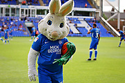 Peterborough Utd mascot Peter Burrow before the Pre-Season Friendly match between Peterborough United and Bolton Wanderers at London Road, Peterborough, England on 28 July 2018. Picture by Nigel Cole.