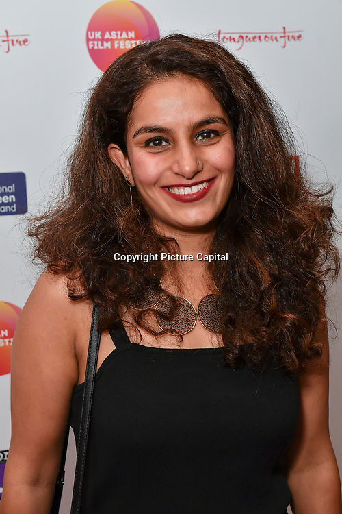Sweta Chhabria is a producer attends the UK Asian Film Festival closing flame awards gala - Red Carpet at BAFTA 195 Piccadilly, on 7 April 2019, London, UK