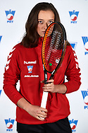 Warsaw, Poland - 2017 December 08: Tennis player Iga Swiatek from Poland poses while Photo Session of Fed Cup Team of Polish Tennis Association at Mera Tennis Club on December 08, 2017 in Warsaw, Poland.<br /> <br /> Mandatory credit:<br /> Photo by © Adam Nurkiewicz / Mediasport<br /> <br /> Adam Nurkiewicz declares that he has no rights to the image of people at the photographs of his authorship.<br /> <br /> Picture also available in RAW (NEF) or TIFF format on special request.<br /> <br /> Any editorial, commercial or promotional use requires written permission from the author of image.