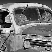 Vintage KB-6 International Truck - Motor Transport Museum - Campo, CA - Black & White