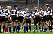 2004_'The Gartmore Challenge' - Barbarians_vs_New-Zealand..Baabaa's captian Justin Marshall [centre] talks to the team as the All Black convert their first try...04.12.2004 Photo  Peter Spurrier. .email images@intersport-images.com...