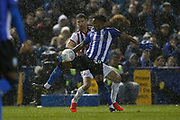 Sheffield Wednesday midfielder Rolando Aarons (39) clears the ball during the EFL Sky Bet Championship match between Sheffield Wednesday and Sheffield United at Hillsborough, Sheffield, England on 4 March 2019.