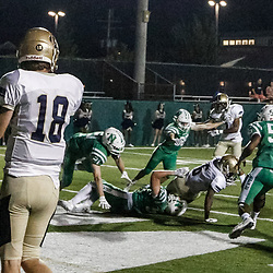During a high school football game between Lusher and Isidore Newman at Lupin Field, in New Orleans, La on September 28, 2017.